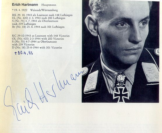 erich hartmann book report Erich hartmann was born too late to participate in the third reich's early period of conquest from 1939 until mid-1942 extreme distances, diagnose each situation according to its unique characteristics, and then plot how he would carry out his personal unorthodox specialty of long-range surprise attack.